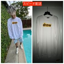 drew house Unisex Street Style Short Sleeves Oversized Logo T-Shirts