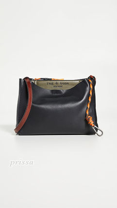 Casual Style Unisex Plain Leather Elegant Style Crossbody