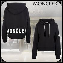 MONCLER Blended Fabrics Street Style Long Sleeves Plain Cotton