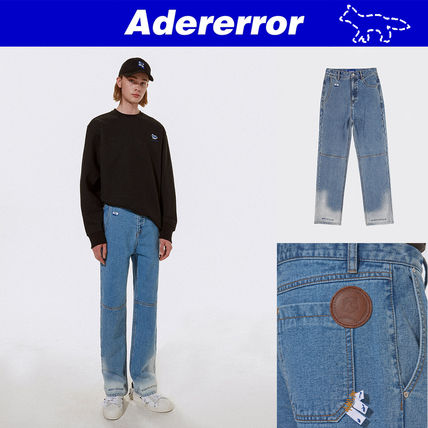 ADERERROR More Jeans Unisex Street Style Collaboration Logo Jeans