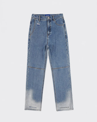 ADERERROR More Jeans Unisex Street Style Collaboration Logo Jeans 2