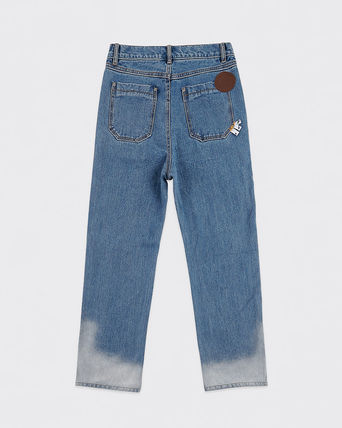 ADERERROR More Jeans Unisex Street Style Collaboration Logo Jeans 3