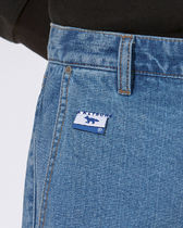 ADERERROR More Jeans Unisex Street Style Collaboration Logo Jeans 8