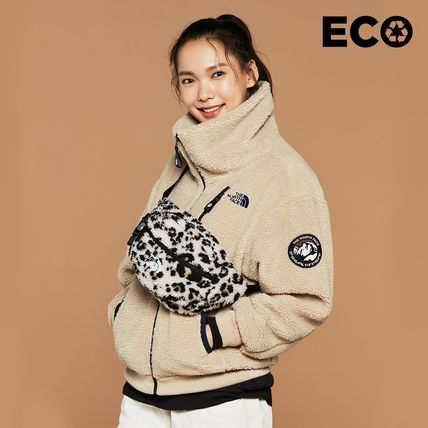THE NORTH FACE Fur Street Style Plain Logo Outerwear