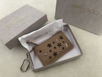 Jimmy Choo Star Unisex Small Wallet Logo Coin Cases