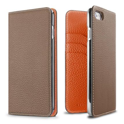 Plain Leather iPhone XR Smart Phone Cases
