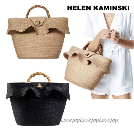 HELEN KAMINSKI 2WAY Plain Straw Bags