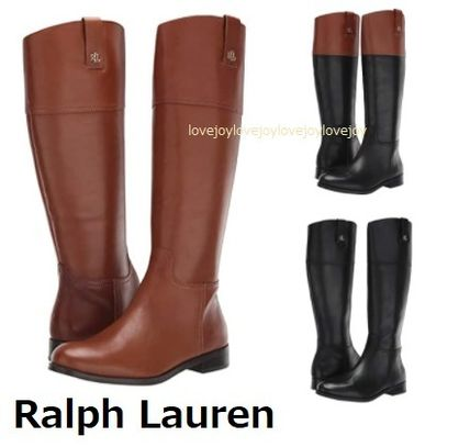 Ralph Lauren Plain Toe Casual Style Plain Leather Street Style
