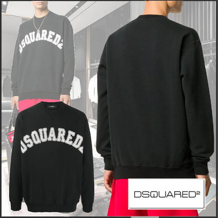 D SQUARED2 Crew Neck Long Sleeves Cotton Logo Luxury Sweatshirts