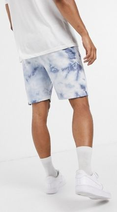 Printed Pants Unisex Street Style Tie-dye Cotton Icy Color