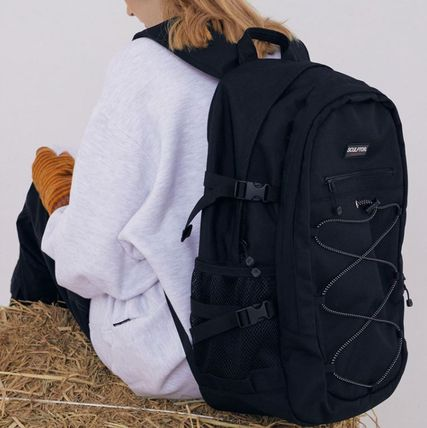 SCULPTOR Unisex Street Style Plain Logo Backpacks
