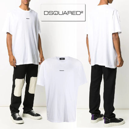 D SQUARED2 Crew Neck Cotton Short Sleeves Logo Luxury