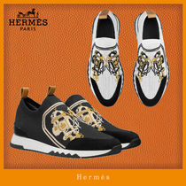 HERMES Casual Style Unisex Blended Fabrics Street Style