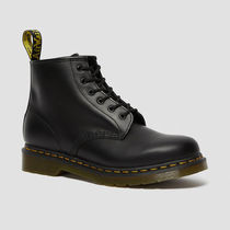 Dr Martens Plain Toe Round Toe Lace-up Casual Style Unisex