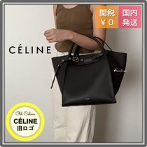 CELINE Big Bag 2WAY Leather Party Style Office Style Elegant Style