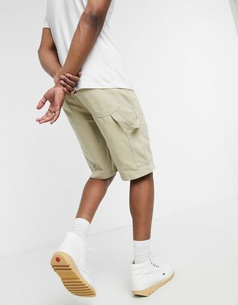 Plain Cotton Cargo Shorts