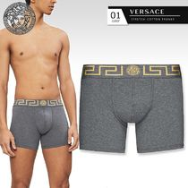 VERSACE Plain Cotton Logo Trunks & Boxers