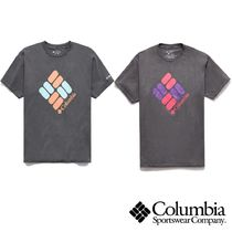 Columbia Cotton Short Sleeves Logo Outdoor T-Shirts