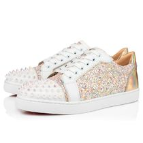 Christian Louboutin Plain Toe Rubber Sole Casual Style Studded Street Style