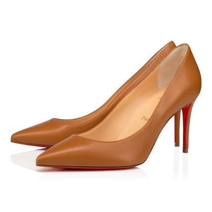 Christian Louboutin Casual Style Plain Leather Pin Heels Office Style