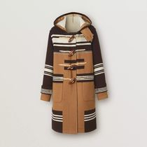 Burberry Other Plaid Patterns Unisex Wool Street Style Long Logo