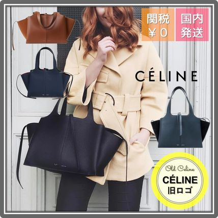 CELINE Tri Fold 2WAY Leather Party Style Office Style Elegant Style