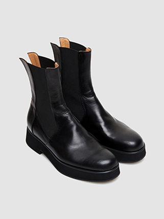 HEROES of HISTORY Unisex Leather Mid Heel Boots