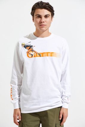Long Sleeve T-shirt Logo Skater Style Crew Neck Pullovers