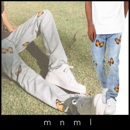 MNML More Jeans Tapered Pants Plain Cotton Jeans