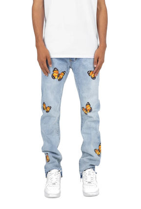 MNML More Jeans Tapered Pants Plain Cotton Jeans 2