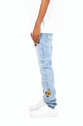 MNML More Jeans Tapered Pants Plain Cotton Jeans 3