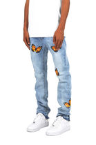 MNML More Jeans Tapered Pants Plain Cotton Jeans 4