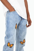MNML More Jeans Tapered Pants Plain Cotton Jeans 8