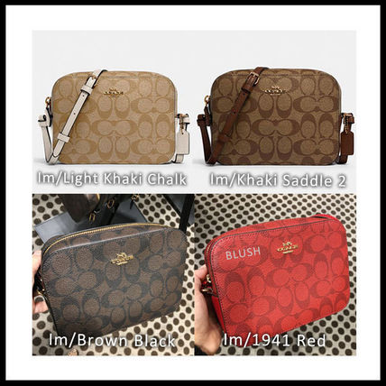 Crossbody Logo Casual Style Plain Leather Party Style