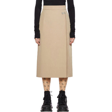 Casual Style Pleated Skirts Plain Medium Long Formal Style