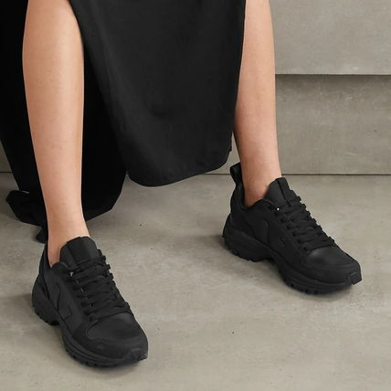 Casual Style Unisex Collaboration Plain Chunky Heels Logo