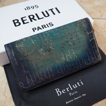 Berluti Calfskin Folding Wallet Long Wallets