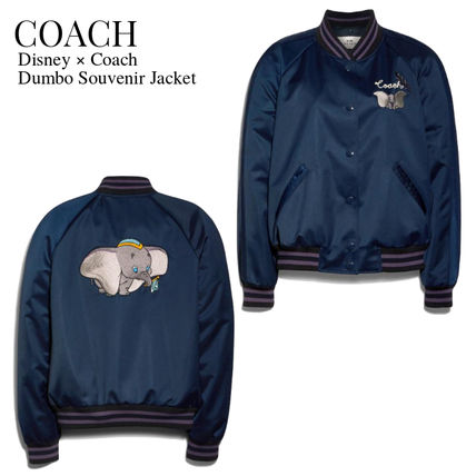 Coach Short Casual Style Collaboration Varsity Jackets