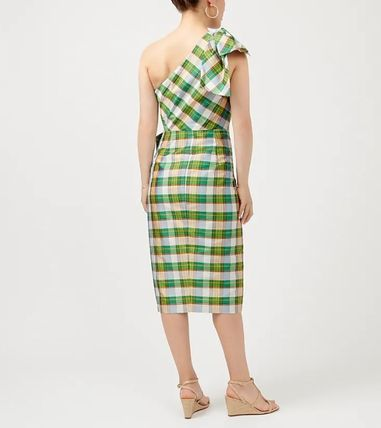 Gingham Casual Style Office Style Elegant Style