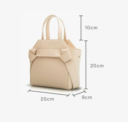 Unitude Casual Style 2WAY Plain Leather Purses Office Style