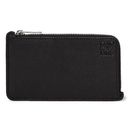 LOEWE Unisex Calfskin Leather Logo Coin Cases