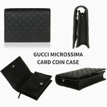 GUCCI Calfskin Plain Leather Coin Cases