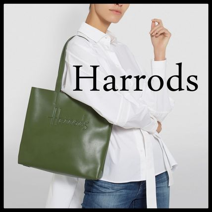 Leather Office Style Elegant Style Formal Style  Logo Totes