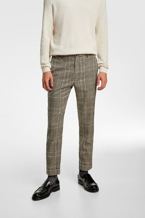 ZARA Other Plaid Patterns Slax Pants Tapered Pants Street Style