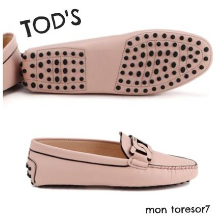 Rubber Sole Casual Style Leather Logo