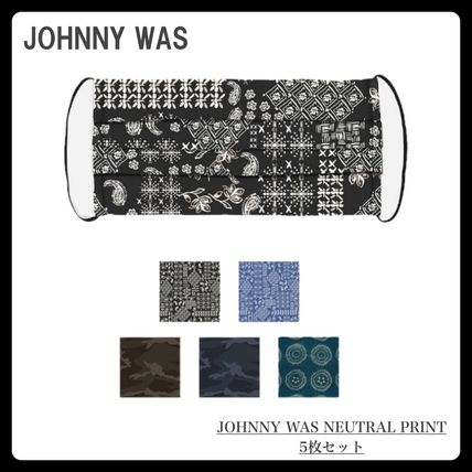 Johnny was More Accessories Paisley Camouflage Casual Style Unisex Blended Fabrics