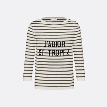 Christian Dior Stripes Casual Style Silk Blended Fabrics Street Style