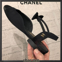CHANEL ICON Casual Style Blended Fabrics Plain Party Style Office Style