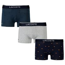 LACOSTE Plain Cotton Logo Trunks & Boxers