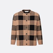Christian Dior Other Plaid Patterns Casual Style Cashmere Cropped